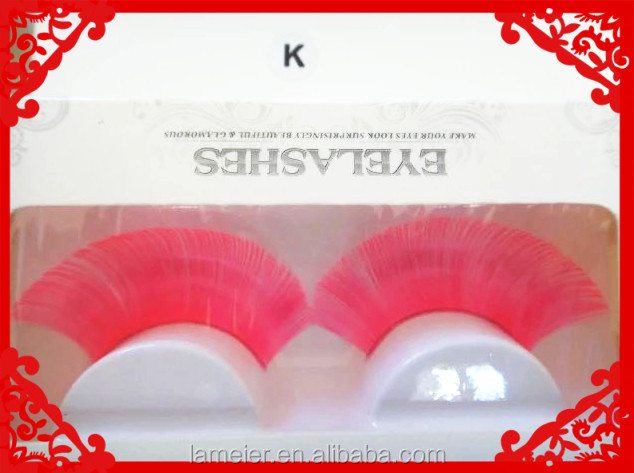 Factory Handmade Colored Synthetic False Eyelashe fashion beauty ladies synthetic eyelashes fiber false eyelashes wholesale