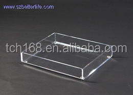 acrylic shower tray/ lucite serving tray holder for home use