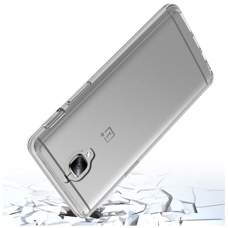 for one plus 3t case, transparent PC TPU shockproof phone case for one plus 3t