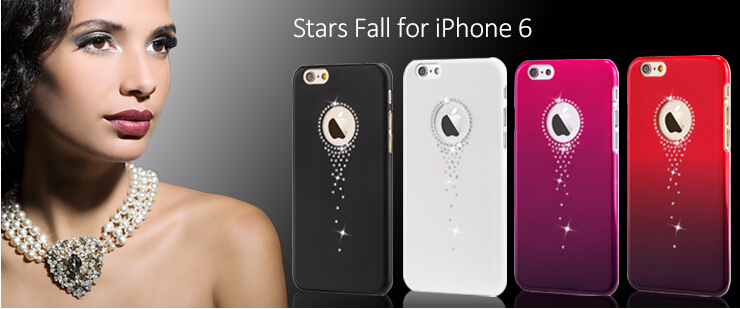 Original X-Fitted Rhinestone Case For iPhone 5S,PC+Diamond Back Case For iPhone 5S PX-006