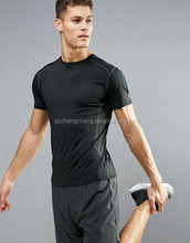 Top quality short sleeve O-neck men t shirt breathable sports activewear t shirt custom black dry fit t shirt for men