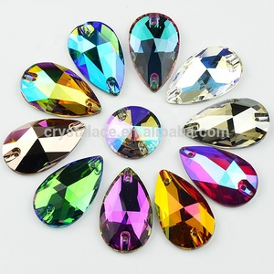 Best quality colour AB flat back crystal glass sew on rhinestone for garments