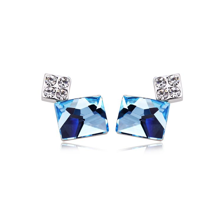 2019 High End Beautiful Korean Design Blue Austrian Crystal Starfish Drop Women Earrings