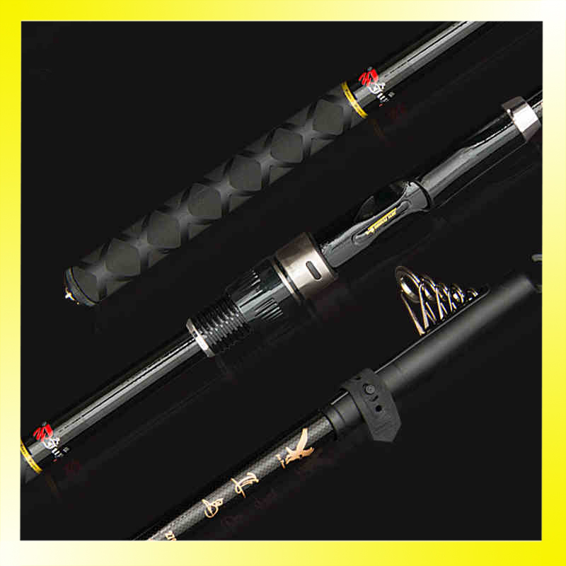 360CM Carbon Fiber Spinning Telescopic Fishing Rods for Fishing