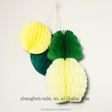 Pineapple-shape Birthday party decoration tissue paper honeycomb ball