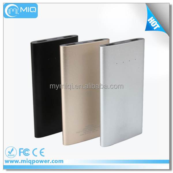 MIQ 5000mah power bank with memory card memory card mobile charger phone battery charger