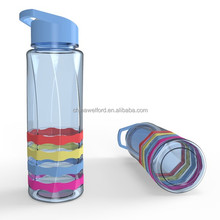 new Custom high quality bpa free silicone band sports sippy water bottle