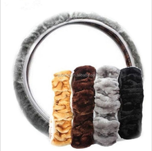 wholesale plush car steering wheel cover / warm steering wheel cover / winter steering wheel cover
