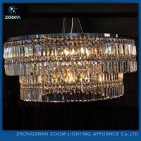 5 star hotel quality modern decoration K9 crystal light