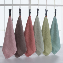 12 colors cotton plain cheap baby face towel hanging hand washing towels