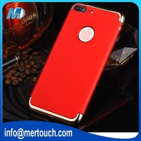 For iphone 7 plus case 3 in 1 electroplating 360 degree protector mobile phone cover case