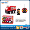Self assembling plastic funny kid RC fire truck toys for gift
