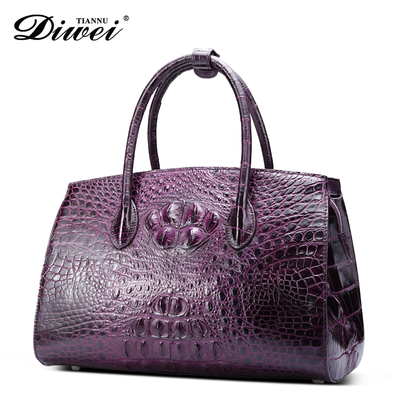 Professional custom multi-colors genuine leather crocodile Woman Hand bag,Tote Bag for Ladies