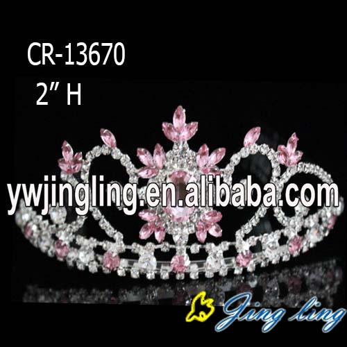 "2"" AB rhinestone tiara and crown for sale"