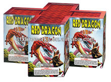 red dragon 80 shots 200g cakes fireworks Factory wonderful effect for entertainment for sell