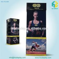 High Quality Point of Sale Paper Material Cardboard Fitness Wear Display Stand