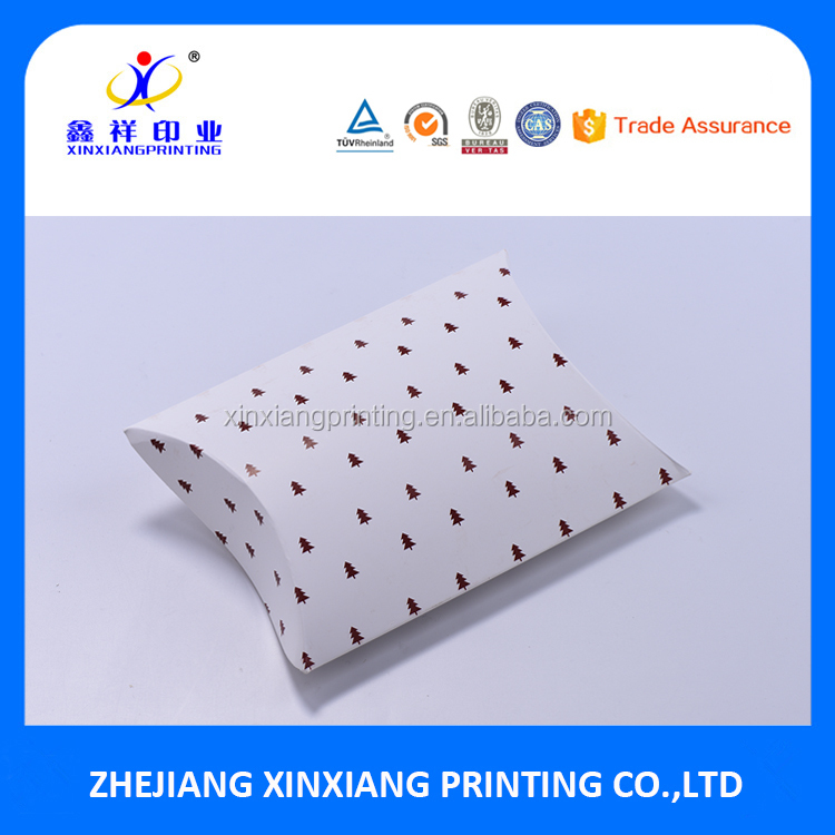 Custom Design Pillow Gift Paper Box Packaging with Your Printing