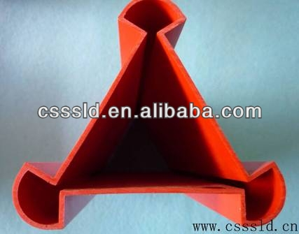PVC tube shaped triangle