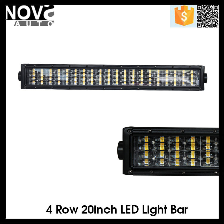 "Nova - Auto 20"" 120w Spot Flood Combo Curved Led Bar Driving Lights"