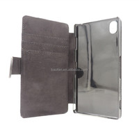 High quality blank sublimation leather phone case for sony Z3