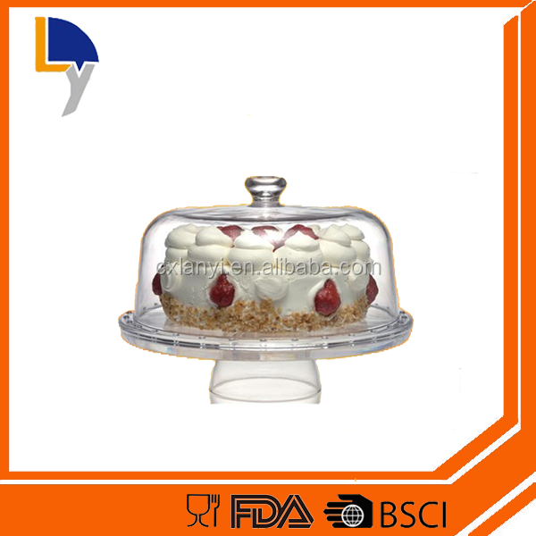 LANYI Factory Sale OEM Multifunctional 6 in 1 Plastic Clear Cake Dome