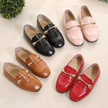FC11118 autumn 2017 children flat bottom shoes pure color fashion girls shoes
