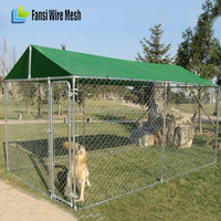 Outdoor Galvanized Puppy Enclosure Run Play Pen dog kennels and runs