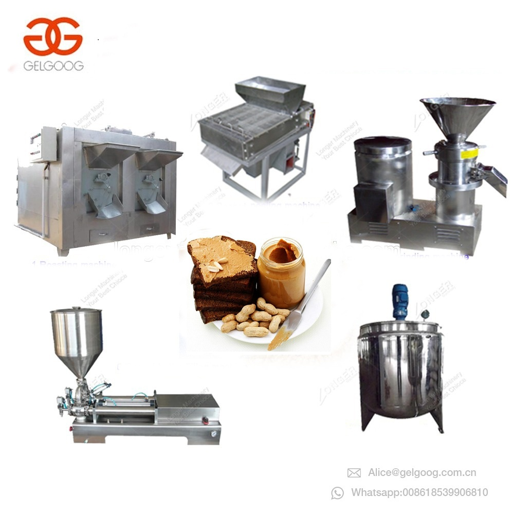 Gelgoog Garlic Paste Processing Machine Hazelnut Jam Making Equipment Hummus Grinding Machinery Groundnut Butter Production Line