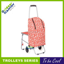 cheap price folding shopping trolley bag trollery cart with 2 wheels---KG1141