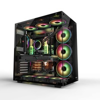 Customized Water Cooling System Black PC Computer Gaming Case ATX With Stand compter case