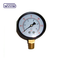 black steel 50mm hydraulic water pressure gauge