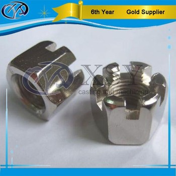 custom made high quality slotted round nut