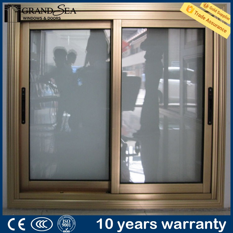 Exterior house thermal break double glazing pvc sliding screen windows for balcony