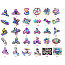 Different shapes Zn alloy good quality metal rainbow spinner hand fidget spinner