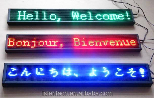 LISTEN scrolling text message led display panel led sign wireless controller wifi