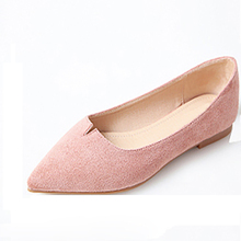Latest fashion soft woman Low Heel Casual Shoes velvet material pumps flat shoes