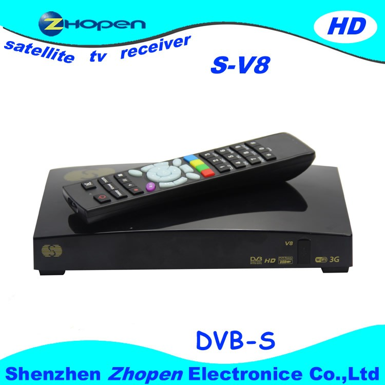 satellite receiver tv box s-v8 support cccam+newcam+mgcam