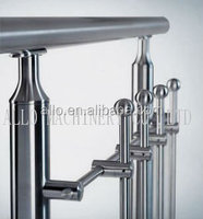 stainless steel railing design through pipe bar fitting terrace handrail