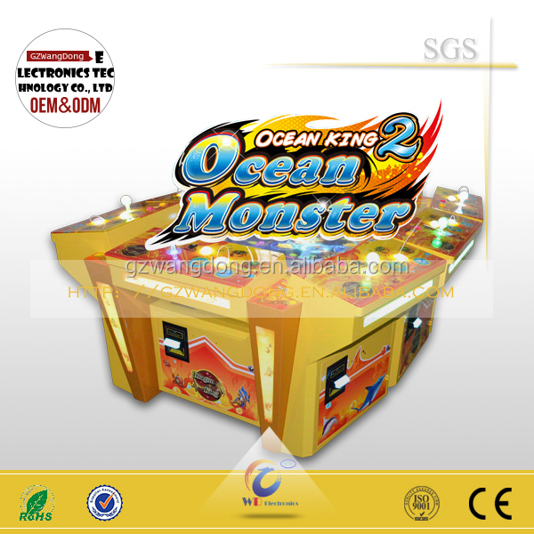 electronic Gambling Products Fishing Casino Game,Ocean Monster Fishing Video Game Consoles for sale