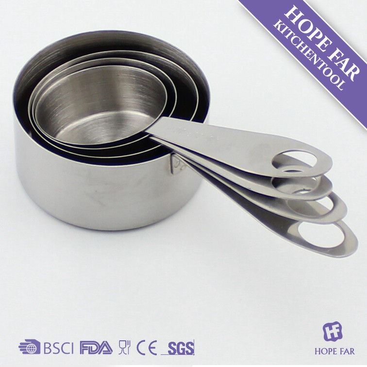 0300132 4pcs stainless steel measuring cups set