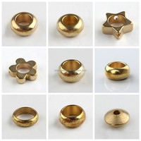 Five-Pointed Star Shaped Brass Rod Beads Metal Bead