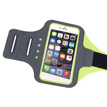 Alibaba Express Cell Phone LED Light Up Jogging Sports Armband Case Flashing Led Running Lycra Armband For iPhone 6