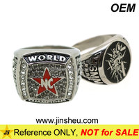 China Factory High Quality Metal Championship Custom Logo Rings