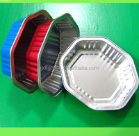 NO.6a and NO.2 take away aluminium foil containers for restaurant with lid