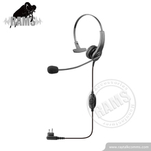 Single side twee manier radio callcenter headset met ruisonderdrukking microfoon