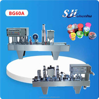 China original hot popular automatic yoghurt cup filling sealing machine CE standard 1 years warrantee