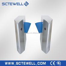 automatic retractable flap gate barrier turnstile / entrance esd flap turnstiles gate for access control system