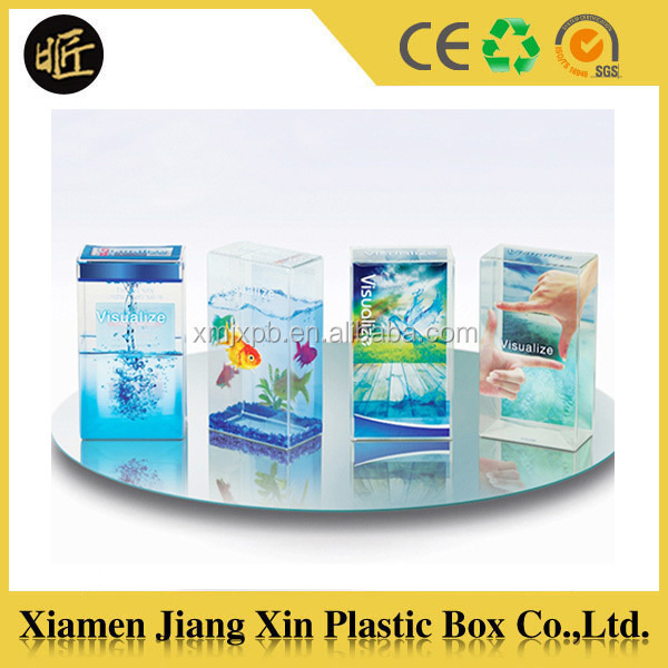 Good quality clear plastic custom baby blanket packaging box