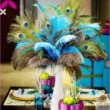 Factory price artificial peacock feather wholesale for event/party/wedding decor