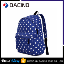 4 Colour Polka Dot Canvas Backpack Bag For School Student